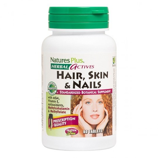 Picture of Nature's Plus HAIR, SKIN & NAILS 60 tabs