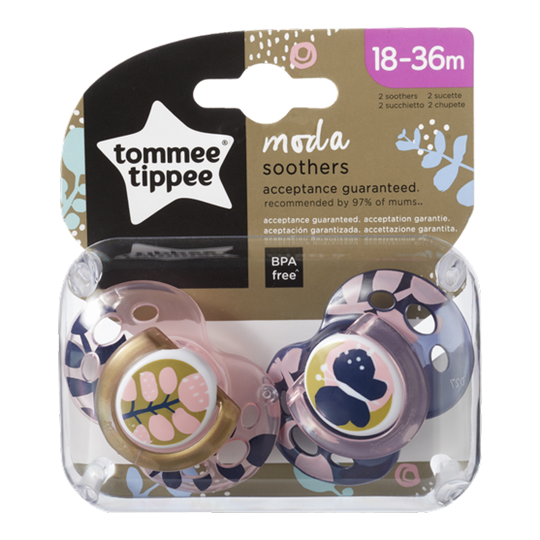 Picture of TOMMEE TIPPEE Πιπίλες σιλικόνης MODA 18-36 μηνών για κοριτσι 2ΤΕΜ