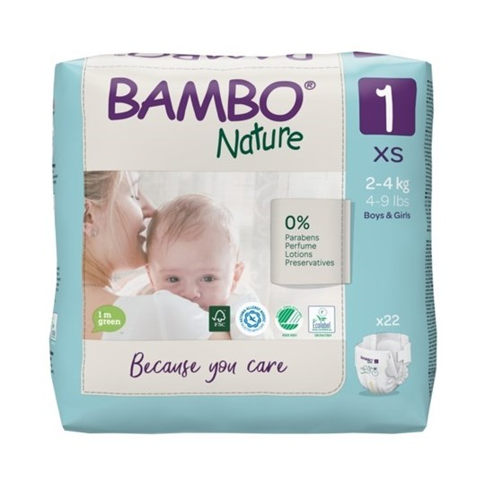 Picture of Πάνα Bambo Nature Newborn (2-4kg)  No.1 Συσκευασία 22 Τεμαχίων