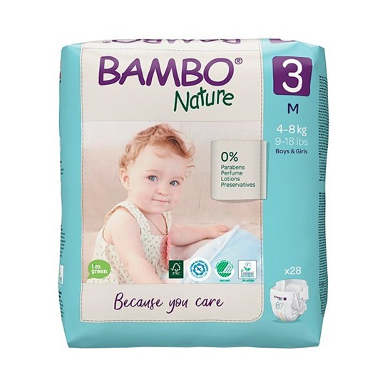 Picture of Πάνα Bambo Nature Midi (4-8kg)  No. 3 Συσκευασία 28 Τεμαχίων