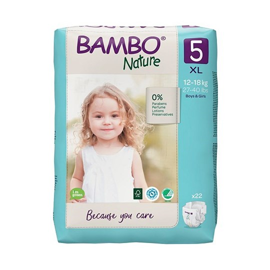 Picture of Πάνα Bambo Nature Junior (12-18kg)  No.5 Συσκευασία 22 Τεμαχίων