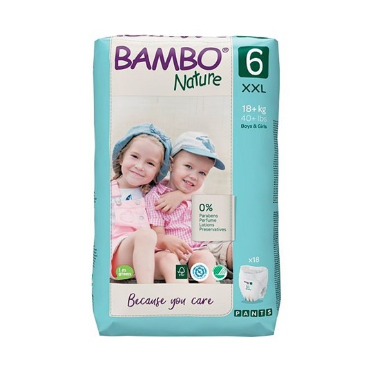 Picture of Πάνα Βρακάκι Bambo Nature no6 (18+kg) Συσκευασία 18 τεμ