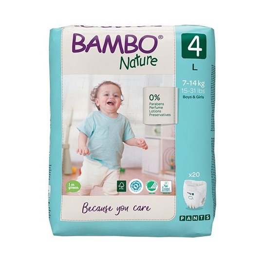 Picture of Πάνα Βρακάκι Bambo Nature no4 (7-14kg) Συσκευασία 20 τεμ.