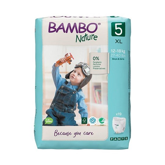 Picture of Πάνα Βρακάκι Bambo Nature no5 (12-18kg) Συσκευασία 19 τεμ.