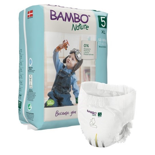 Picture of Πάνα Βρακάκι Bambo Nature Junior (12-18kg) No.5 Συσκευασία 95 Τεμαχίων
