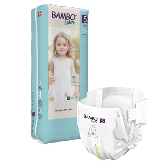 Picture of Πάνα Bambo Nature Junior (12-18kg)  No.5 Συσκευασία 132 Τεμαχίων