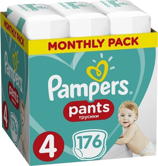 Picture of Pampers Pants No.4 (9-15kg) 176 Πάνες