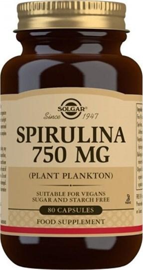 Picture of SOLGAR Spirulina 750mg 80 κάψουλες