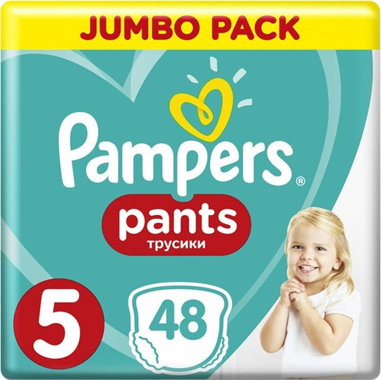 Picture of Pampers Jumbo Pack Pants No 5 (12-17kg) 48τμχ