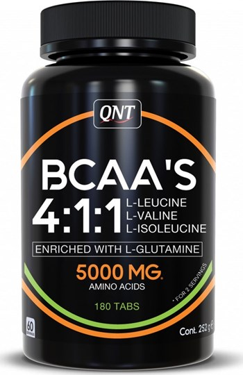 Picture of QNT BCAA'S 4:1:1 + L-Glutamine 180 ταμπλέτες