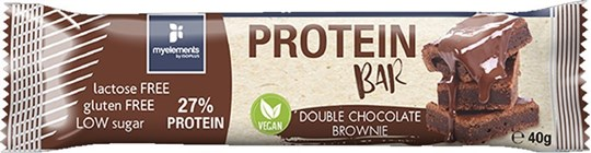 Picture of MYELEMENTS VEGAN PROTEIN BAR CHOCO BROWNIE 40gr