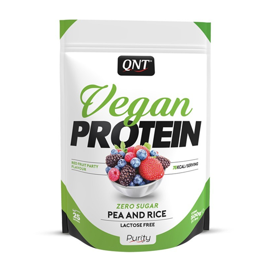 Picture of QNT Vegan Protein Red Fruity Party 500gr