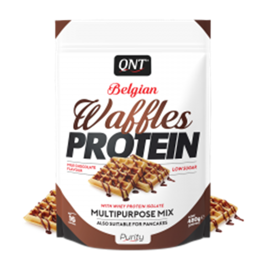 Picture of QNT BELGIAN WAFFLES PROTEIN Milk Chocolate 480gr