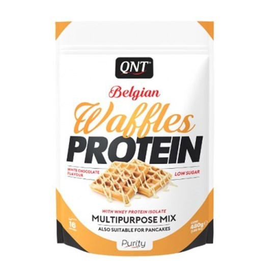Picture of QNT BELGIAN WAFFLES PROTEIN White Chocolate 480gr