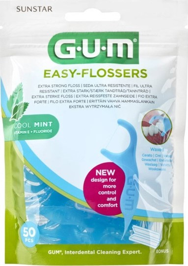 Picture of GUM 890 Easy Flossers Cool Mint 50τμχ