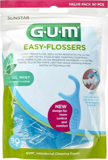 Picture of GUM 890 Easy Flossers Cool Mint 90τμχ