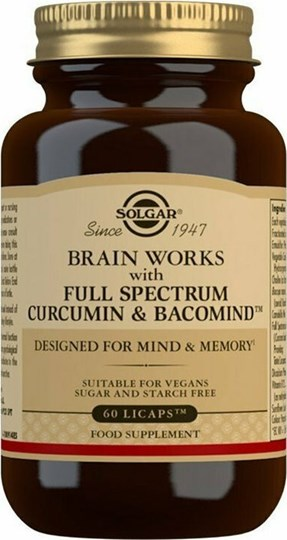 Picture of Solgar Brain Works with Full Spectrum Curcumin & Bacomind 60 lipcaps