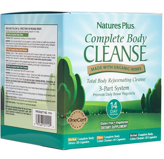 Picture of Nature's Plus Complete Body Cleanse 14 Day Program (Herbal Complete Body Detox 28caps + Fiber Complete Body Colon Cleanse 84caps + Herbal Complete Body Colon Cleanse28caps)