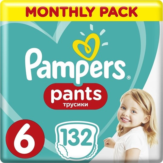 Picture of Pampers Pants No 6 (16+kg) 132τμχ