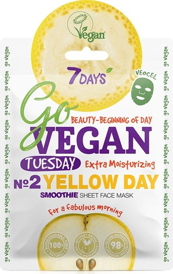 Picture of 7 Days Go Vegan Yellow Day 25gr Μάσκα Ομορφιάς