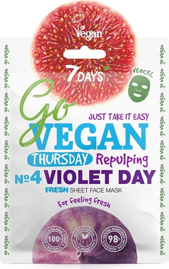 Picture of 7 Days Go Vegan Violet Day 25gr Μάσκα Ομορφιάς