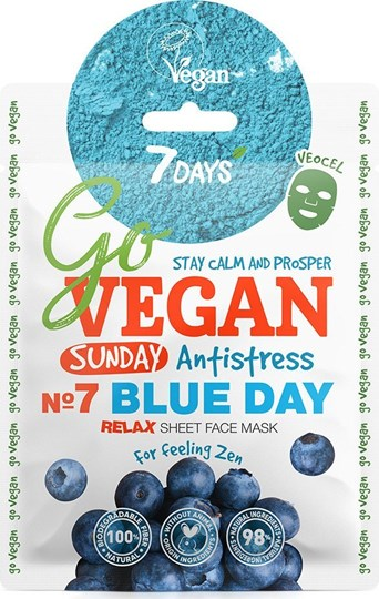 Picture of 7 Days Go Vegan Blue Day 25gr Μάσκα Ομορφιάς