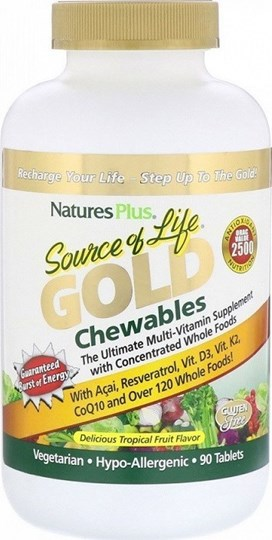 Picture of NATURE'S PLUS SOURCE OF LIFE GOLD CHEWABLE 90