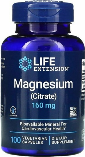 Picture of Life Extension Magnesium (Citrate) 160mg 100 φυτικές κάψουλες