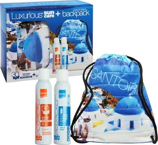 Picture of Intermed Luxurious Santorini Sunscreen Invisible Spray SPF30 200ml, Hydrating Antioxidant Spray Mist 200 ml & Backpack