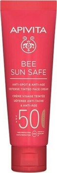 Picture of Apivita Bee Sun Safe Anti-spot & Anti-age Spf50 Defense Tinted Face Cream 50ml SPF50 50ml