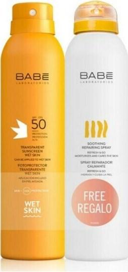 Picture of Babe Laboratorios Transparent Suncreen Wetskin SPF50 200ml & Soothing Repairing Spray 200ml