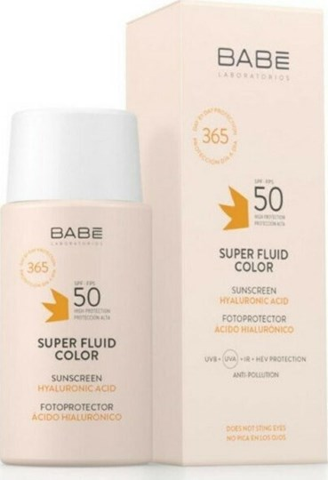 Picture of Babe Super Fluid Color Sunscreen with Hyaluronic Acid Spf50, 50ml