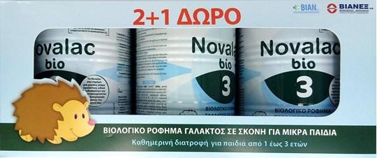 Picture of Novalac Promo Pack Bio Βρεφικό Γάλα Νούμερο 3, 3x400gr
