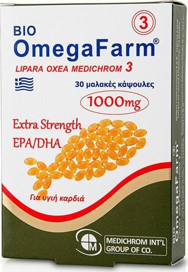 Picture of Medichrom Bio Omega Farm Extra Strength EPA/DHA 1000mg 30 μαλακές κάψουλες