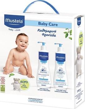 Picture of Mustela Gentle Cleansing Gel 500ml & Hydra-Bebe Body Lotion 500ml & Δώρο Αρκουδάκι
