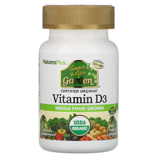 Picture of Nature's Plus Source Of Life Garden Vitamin D3 Vegan Friendly Βιταμίνη D3 2.500IU 60caps