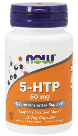 Picture of Now Foods 5-HTP 50 mg 30 Veget.caps