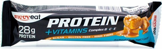 Picture of Mooveat Protein 35% +Vitamins Bar 80gr Salted Caramel