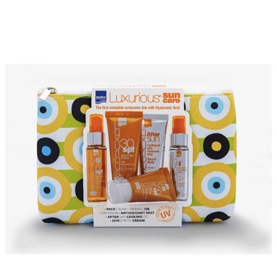 Picture of InterMed Luxurious Set Sun Care Tanning Oil SPF6 50ml & Body Sunscreen Cream SPF30 75ml & Sunscreen Cream SPF50 Σώματος 40ml & After Sun Face & Body 75ml & Spray Mist Hydrating Antioxidant Face & Body 50ml