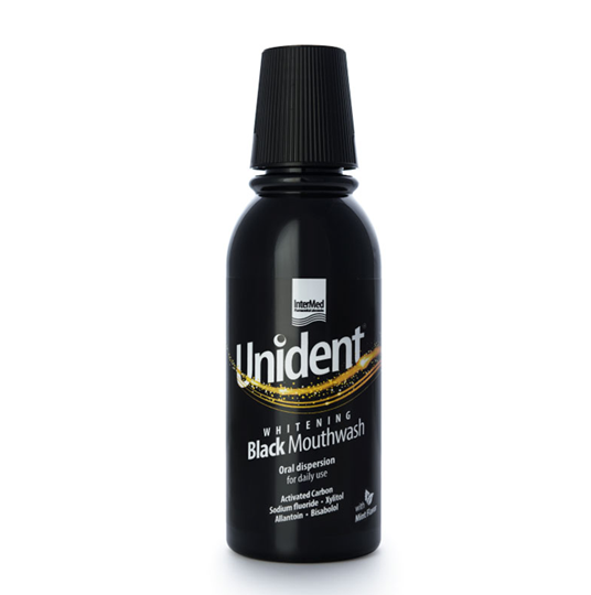 Picture of Intermed Unident Whitening Black Mouthwash 250ml