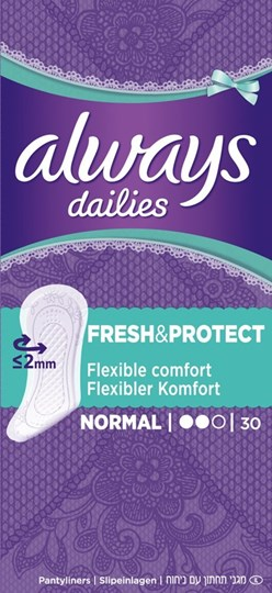 Picture of Always Dailies Fresh & Protect Normal 30τμχ