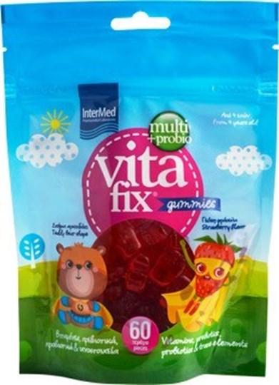 Picture of Intermed Vitafix Multi & Probio Gummies Pouch Φράουλα 60τμχ