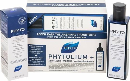 Picture of Phyto Phytolium+ Anti-hair Loss Treatment for Men 100 ml & Anti-hair Loss Shampoo for Men 250 ml