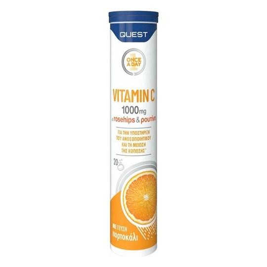 Picture of Quest Vitamin C 1000mg με Rosehips & Ρουτίνη για την Καλή Λειτουργία του Ανοσοποιητικού Συστήματος 20eff.tabs