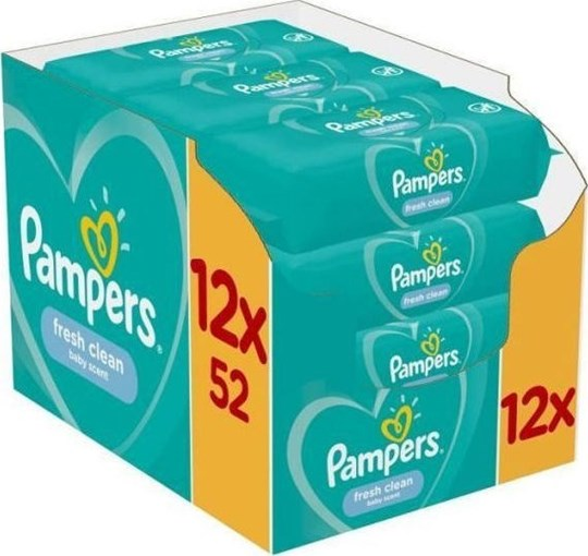 Picture of Pampers Fresh Clean 624τμχ (12x52τμχ)