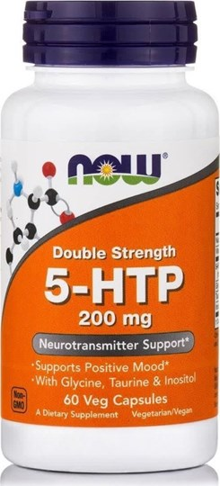 Picture of Now Foods 5-HTP 200 mg 60 Veget.caps